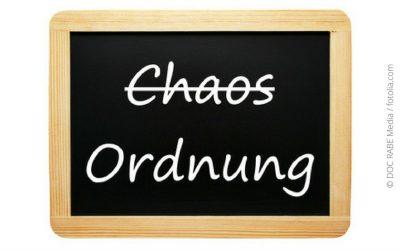 Ordnung, Veränderung und Platz für Neues…