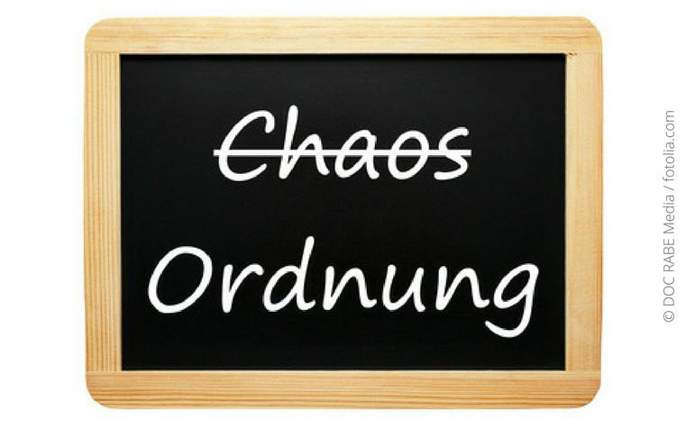 Ordnung, Veränderung und Platz für Neues